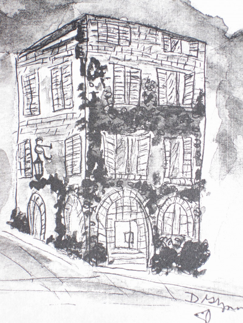The Hotel facade, Charcoal
